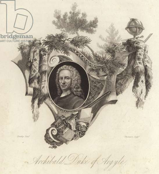 Archibald Campbell, 3rd Duke of Argyll, Scottish politician, lawyer and soldier (engraving)