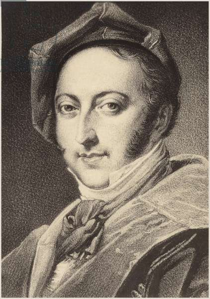 Portrait of Gioachino Rossini (engraving)