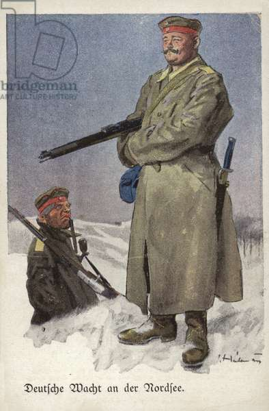 German Watch on the North Sea, World War I, 1914-1918 (colour litho)