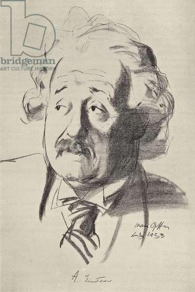 Albert Einstein, German-born physicist (litho)