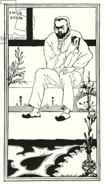 Portrait of Emile Zola (engraving)