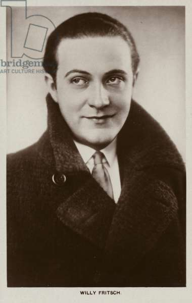 Willy Fritsch, German actor and film star (b/w photo)