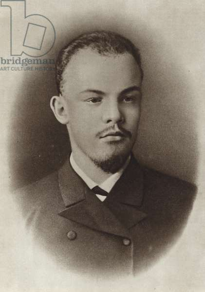 Lenin as a university student, Samara, 1890 (b/w photo)
