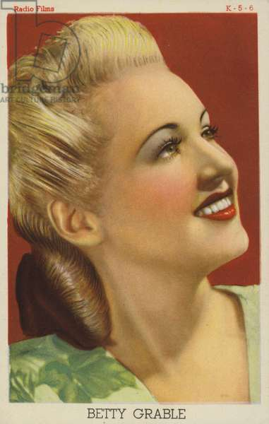 Betty Grable, American actress and film star (coloured photo)