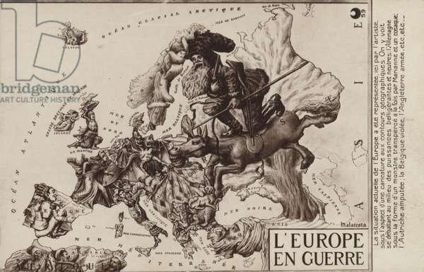Europe at War (litho)