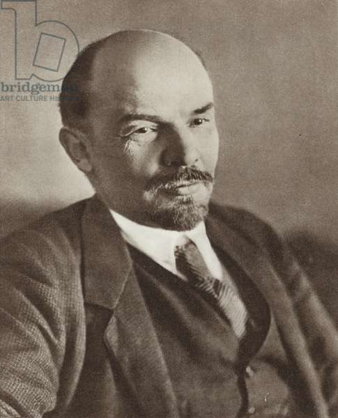 Lenin, Petrograd, January 1918 (b/w photo)