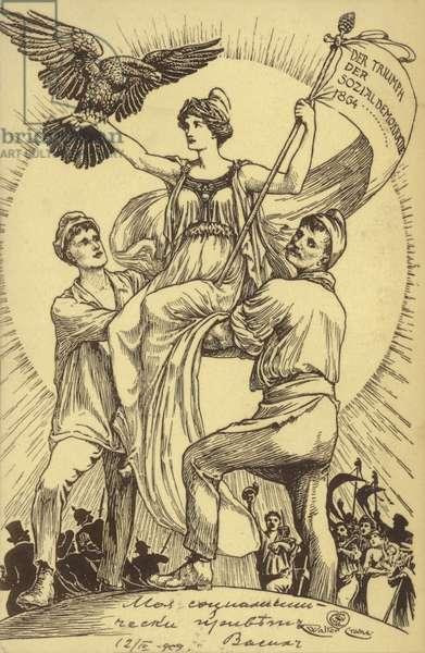 The Triumph of Social Democracy, 1904 (litho)