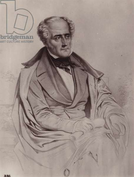 Francois-Rene de Chateaubriand (1768-1848), French writer, politician and historian (litho)