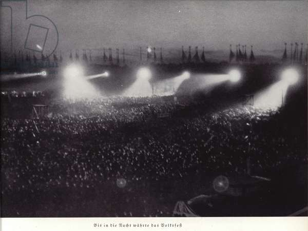 Volksfest at the Nuremberg Rally, 1936 (b/w photo)