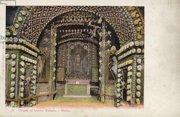 Chapel of Bones, Valletta, Malta (coloured photo)