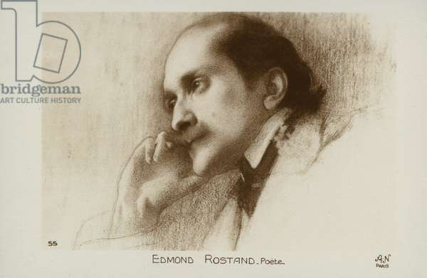 Edmond Rostand (1868-1918), French poet and dramatist (litho)