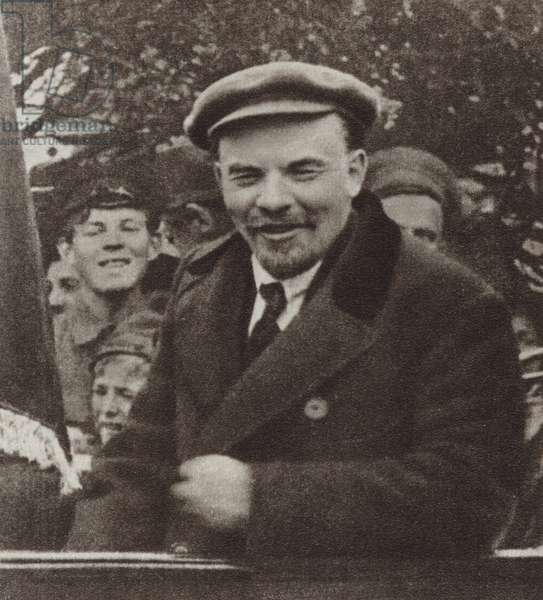 Lenin, Moscow, 1 May 1919 (b/w photo)