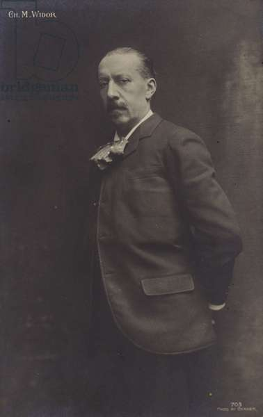 Portrait of Charles-Marie Widor (b/w photo)