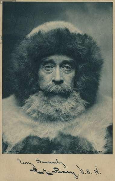 Robert Peary (1856-1920), American Arctic explorer (b/w photo)