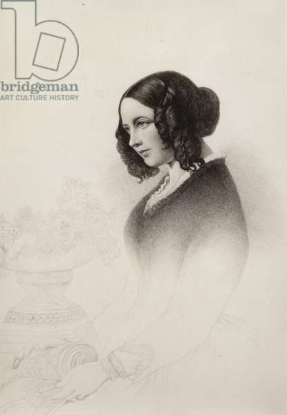 Mrs Charles Dickens, c1836 (litho)