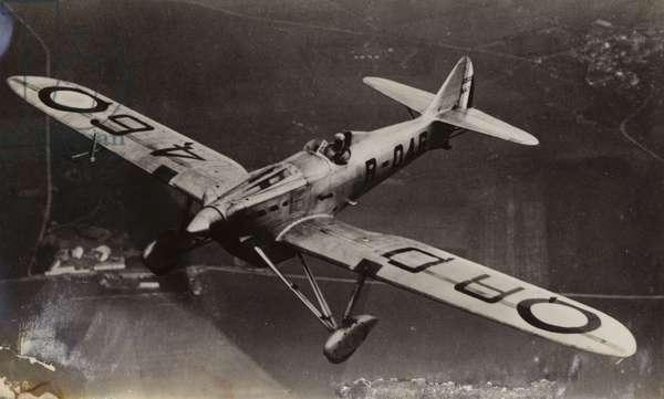 Royal Air Force plane (b/w photo)
