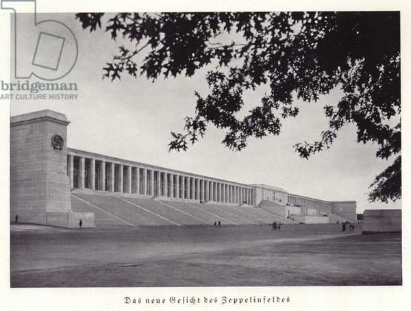 Grandstand on the Zeppelin Field, Nuremberg (b/w photo)