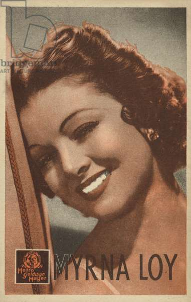 Myrna Loy (b/w photo)