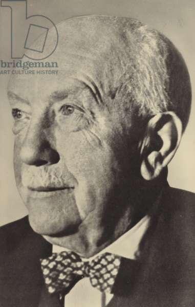 Portrait of Oscar Strauss (b/w photo)