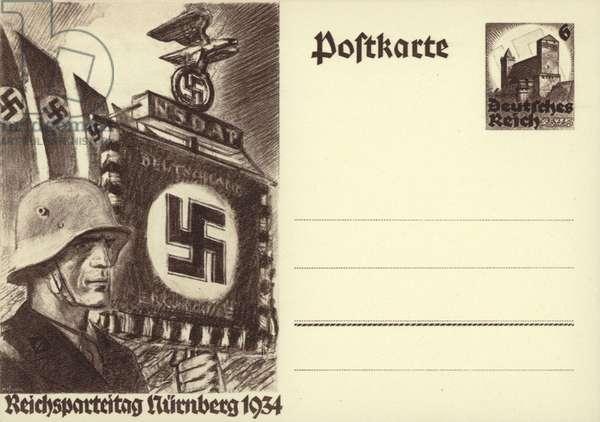 Nazi Party rally, Nuremberg, 1934 (litho)