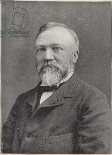 Andrew Carnegie (b/w photo)
