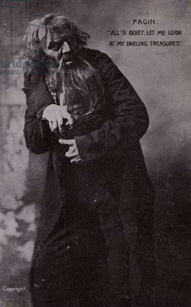 Fagin, from Oliver Twist, by Charles Dickens (b/w photo)