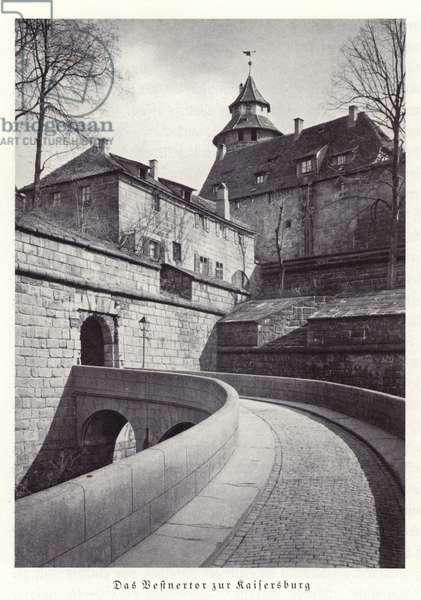 Nuremberg Castle (b/w photo)