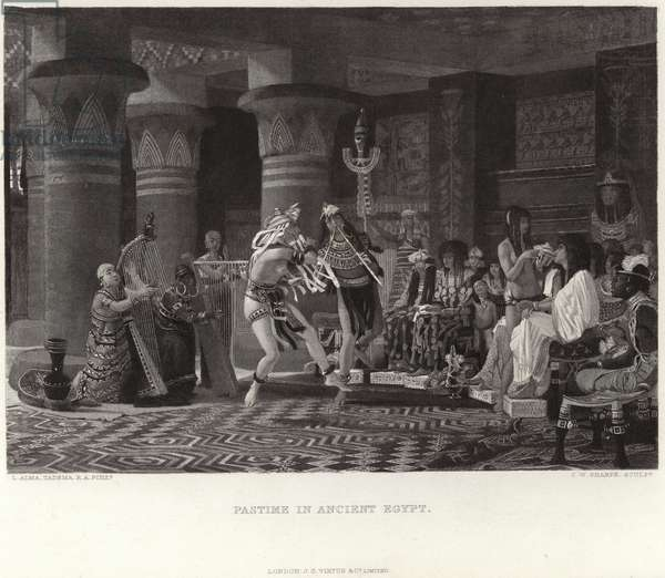 Pastime in ancient Egypt (engraving)