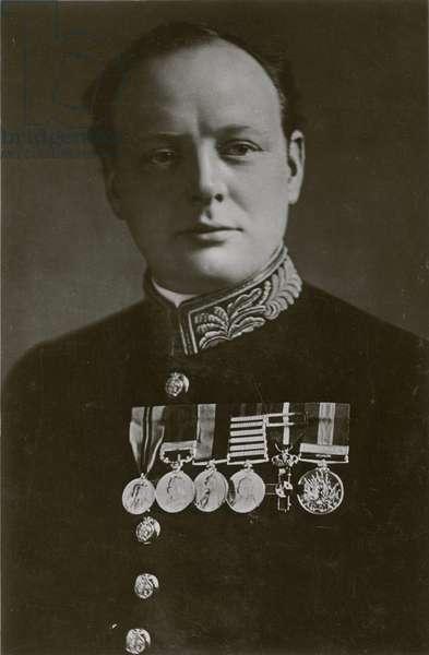 Rt Hon Winston Churchill (b/w photo)
