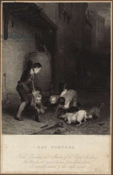Rat hunters (engraving)