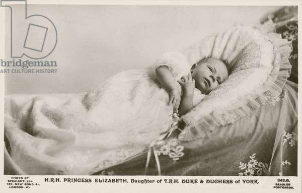 Princess Elizabeth, eldest daughter of the Duke and Duchess of York, 1926 (b/w photo)