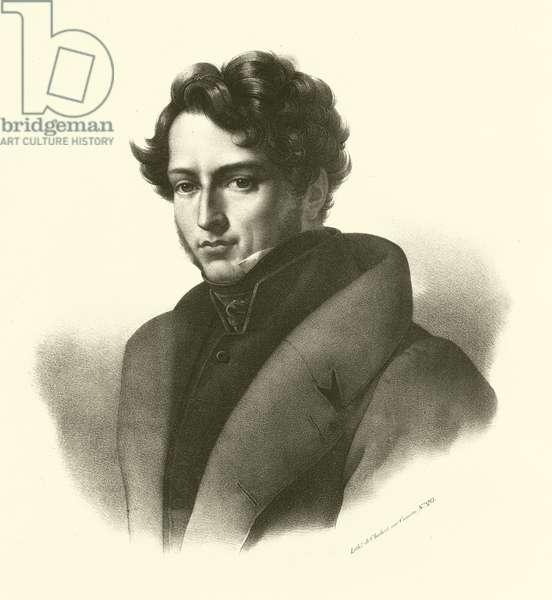 Gericault, portrait (engraving)