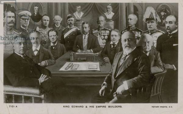 Edward VII (1841-1910) and his Empire builders (b/w photo)