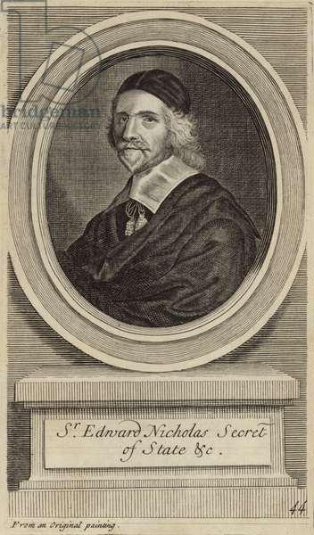 Sir Edward Nicholas (engraving)