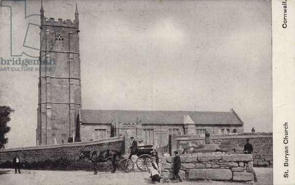 St Buryan Church, Cornwall (b/w photo)