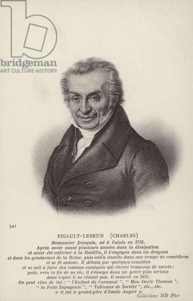 Charles Pigault-Lebrun (1753-1835), French novelist and playwright (litho)