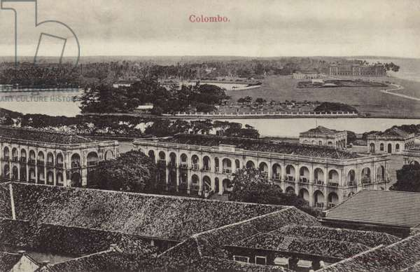 General view of Colombo (b/w photo)