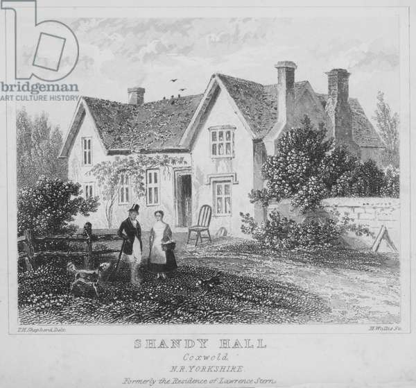 Shandy Hall, Coxwold, N R Yorkshire (engraving)