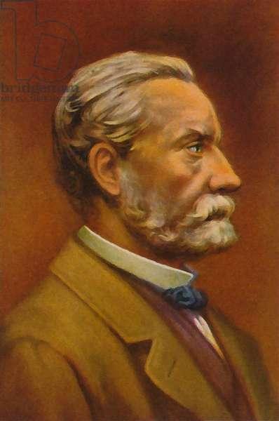 Louis Pasteur (colour litho)