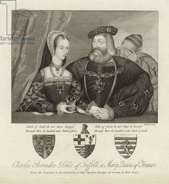 Charles Brandon Duke of Suffolk & Mary Queen of France (engraving)