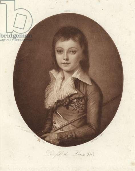 The son of King Louis XVI (litho)