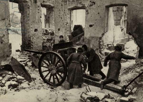 Battle of Stalingrad, USSR, World War II, December 1942 (colour litho)