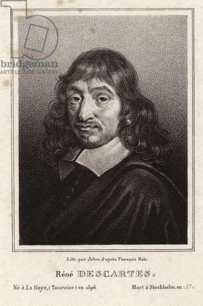 Portrait of Rene Descartes (engraving)