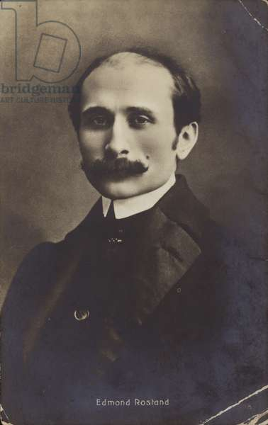 Portrait of Edmond Rostand (b/w photo)