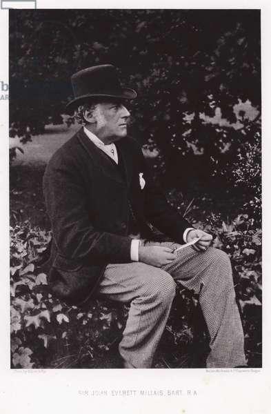 Sir John Everett Millais, English artist (b/w photo)