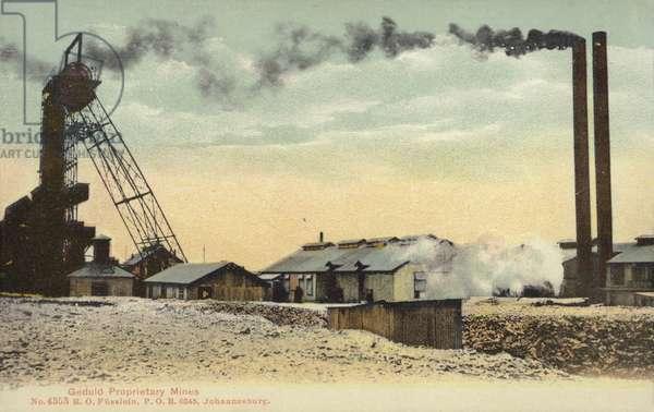 Postcard depicting Geduld Proprietary Mine (photo)