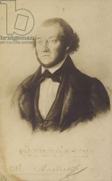 Alexander Alabyev, Russian composer (litho)