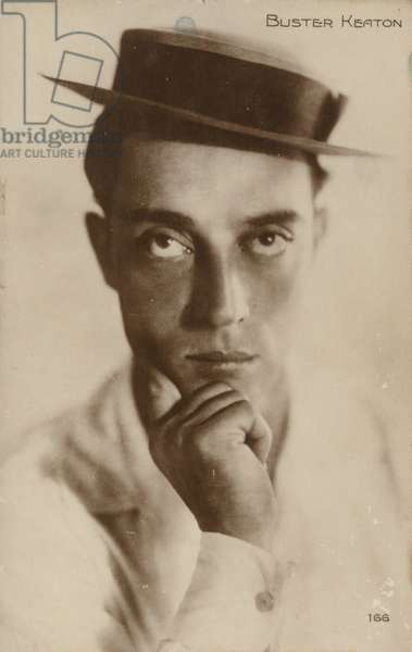 Buster Keaton, American comic actor and film star (b/w photo)