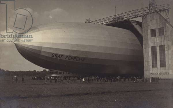 German airship Graf Zeppelin (b/w photo)