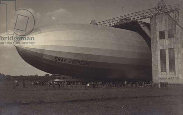 German airship Graf Zeppelin (b/w photo)